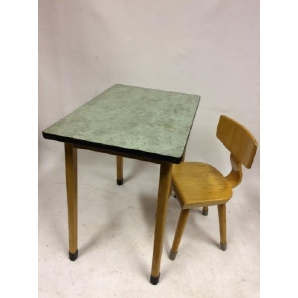 School Tafeltje En Stoeltje.Vintage Kindertafel Met Stoeltje Nr 121