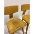 Vintage Schilte schoolstoeltjes nr 90, zithoogte 26 cm